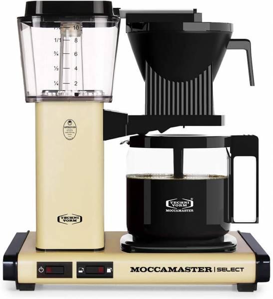 Moccamaster Filter Kaffeemaschine KBG Select, 1.25 Liter, 1520 W, Pastel Yellow